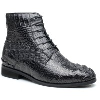 Customized Height Increasing Dress Shoes Bespoke Style Handmade Men Elevator Shoes Tall Men Boots
