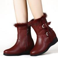 Women Hidden Height Heel Boots Elevator Shoes Height Increasing Boots 6.5cm/2.56 Inches
