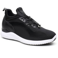 Black Elevator Shoes Height Increasing Sneaker Lift Shoes Make You Taller 7cm/2.76 Inch