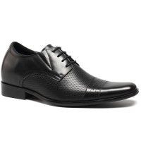 Elevator Shoes Increase Height Shoes Men Business Formal Black Dress Taller 7cm/2.76 Inch
