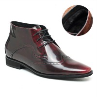 Velvet Inner Lining Stylish High Heel Boots for Men Dress Height Increasing Boots Make Men Look Taller
