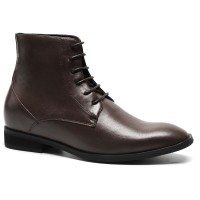 Height Increasing Boots Men Dress Lace up Ankle Boots Shoes
