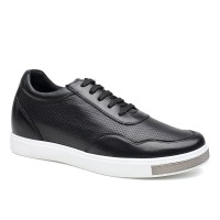 Casual Men Elevator Shoes Hidden Heel Lifts Shoes Height Increase Skate Shoes 6CM/2.36 Inches Taller
