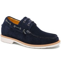 Casual Men Elevator Shoes Height Increasing Boat Shoes High Heel Lift Shoes 6CM/2.36 Inches Taller