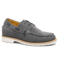Casual Elevator Shoes Lift Shoes Make Men Taller Height Increase Boat Shoes 6CM/2.36 Inches Taller