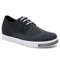 Mens Hidden Heel Shoes Elevator Sneakers Height Shoes