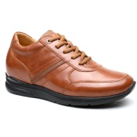 Business Casual High Heel Lift Shoes Men Elevator Shoes Height Increasing Shoes 6CM/2.36 Inches Taller