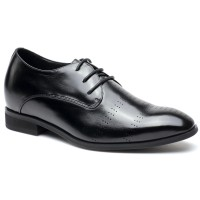 Oxford Elevator Shoes Height Increasing Shoes High Heel Men Dress Shoes Add Height 7CM/2.76 Inches