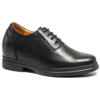 Mens Dress Elevator Shoes Height Increasing Bullock Shoes Hidden High Heel Shoes Lift Shoes Make You Taller 9CM/3.54 Inch