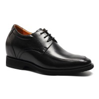 Height increasing black dress formal shoes to look taller 3.54 inch