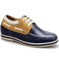 Men Increasing Height Shoes  Board Lace-up Casual Men Tall Shoes 6.5cm/2.56inch