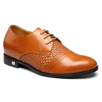 Superior Genuine Elevator Mens Lifting Shoes  Leather Designer Dress BESPOKE Heel Inserts Shoes