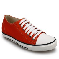 Men Casual Canvas Height Increasing Elevator Shoes High Heel Skate Shoes Add Height 6cm/2.36 Inches