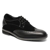 Formal Men Elevator Dress Shoes Height Increasing Shoes Make Men Taller 7cm/2.76 Inches