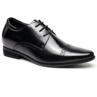 Men Dress Elevator Shoes Formal Tall Men Shoes Height Increase Lift Shoes 7CM/2.76 Inches