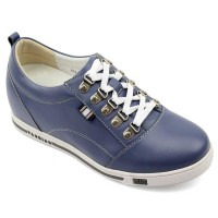 Mazarine Cow Leather Height Increasing Casual Shoes