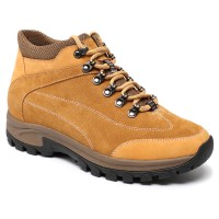 Men Height Increasing Shoes Outdoor Hiking Elevator Boots Lace-up Tall Men Shoes 7CM/2.76 Inch