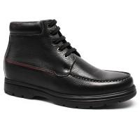 Mens Hidden Heels Shoes Height Increasing Boots For Men