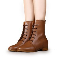 Women Hidden Height Insoles Boot High Heel Boots Elevator Shoes Add Height 6.5cm/2.56 Inches