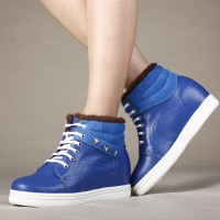 Women Height Increase Shoes High Heel Sports Boots Add Height Boots Blue 7cm/2.76Inches