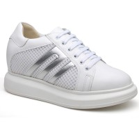 Women Elevate Sneakers Height Increasing Shoes Casual Shoes to Get Taller  8CM/3.15 Inches