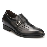 7.5cm / 3 inch Shoe Lifts for Men Elevator Casual Calf Hair Oxfords Height Increas Shoes