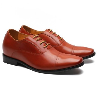 CMR Chamaripa Brown Leather Elevator Dress Shoes
