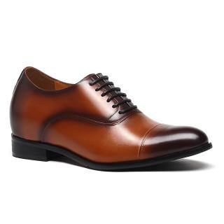 ความสูงของรองเท้าบุรุษสีน้ำตาลที่เพิ่มขึ้นรองเท้าที่ทำให้คุณสูงรองเท้าหนังแท้ลิฟท์ของแท้