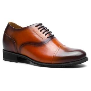 Calfskin Genuine Leather 7.5CM/2.95 Inch Mens Elevator Dress Shoes
