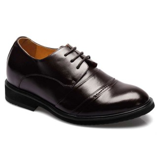 brown cow leather taller shoes