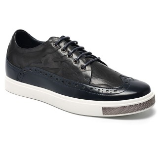 Chamaripa รองเท้าที่เพิ่มความสูงรองเท้าผ้าใบคลาสสิก