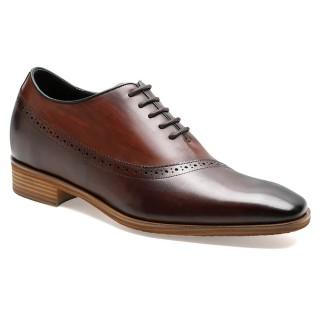 Black Calfskin Leather Get Taller Dress Shoes