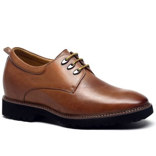Tailor Made Best Quality Yellow brown Cow leather 7.5cm men taller shoes