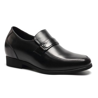Black Calfskin Leather/Leather Men's Dress Shoes For Man