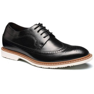 Black bullock height casual shoes for men