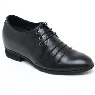 Anti-Wrinkle Calfskin Leather Height Dress Elevator Shoes