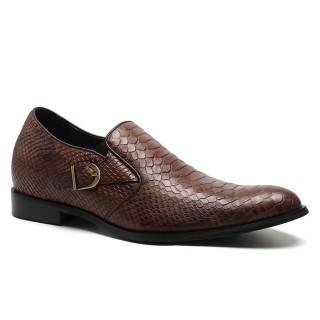 Elevation Platform Pedals Dress Serpentine Leather Taller Shoes