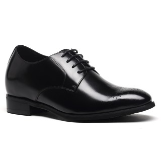 2016 Chamaripa Oxford Height Increasing Shoes Black Wedding Shoes