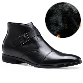 Tall Man Shoes Mens Leather Boots Elevator Boots High Lift Shoes