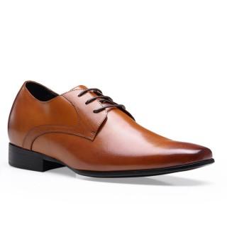 Genuine Leather Dress Elevator Shoes For Men Look Taller