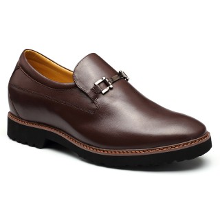 Tailor Made Brown Cow leather 7.5cm height increasing shoes