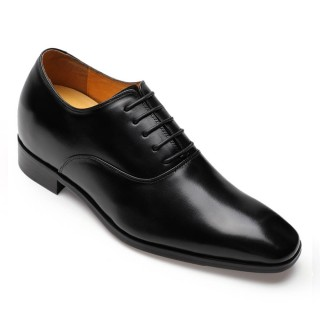Black Leather Height Increasing Dress Shoes 4 Men