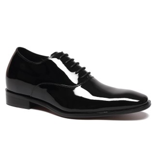 Black Leather Elevated Dress Shoes