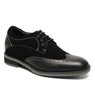 Formal Men Elevator Dress Shoes high heels formal shoes for mens Make Men Taller 7cm/2.76 Inches