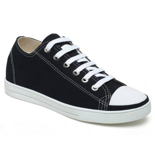 Stylish Simple Girl Canvas Height Increasing Shoes For Women