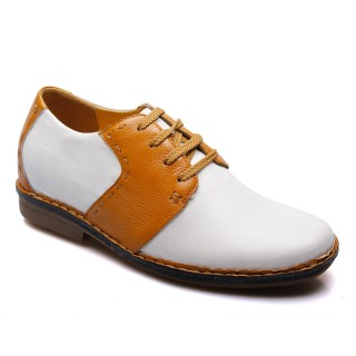 Business Casual Tall Men Shoes Height Increasing Leather Shoes that Make Men Taller 6.5CM/2.56 Inches