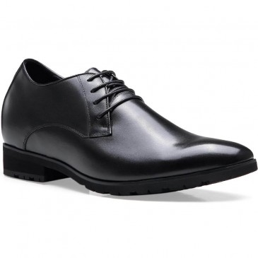 Chamaripa 10cm/3.94 Inch Taller Black Elevator Dress Shoes For Men