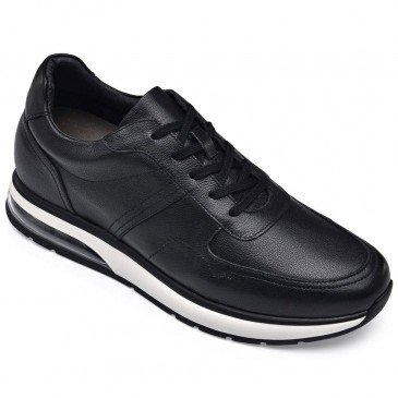 CHAMARIPA height increasing shoes hidden heel shoes for men black air cushion sneakers 8CM / 3.15 Inches Taller