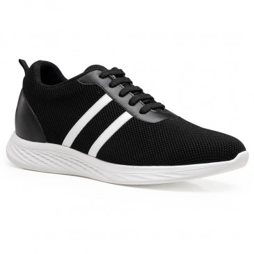 Chamaripa Elevator Sneakers Shoes Black Height Increasing Sports Shoes Lifting Sneakers 6 CM / 2.36 Inches