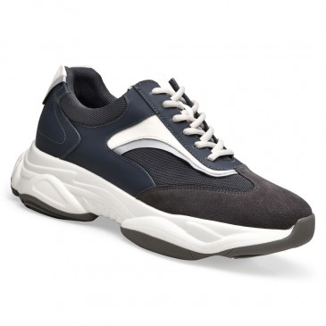 Chamaripa Height Increasing Sneaker Dark Grey Mesh Chunky Sneakers Shoes that Make You Taller 8.5CM / 3.35Inches